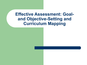 Goal and Objective-Setting and Curriculum