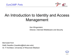 Identity and Access Management Model: A Functional