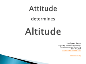 Free of ppt Attitude Determines Altitude.