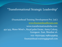 Leadership programme - Transformational MBA