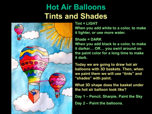 Hot Air Balloon Tints and Shades