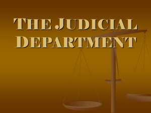 THE JUDICIAL DEPARTMENT