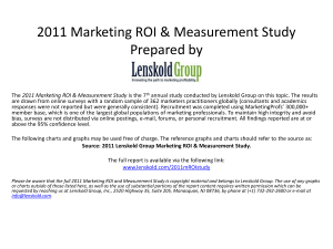 2011 Marketing ROI and Measurement Study