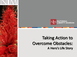 Taking Action to Overcome Obstacles