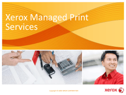 on Xerox Managed Print Services