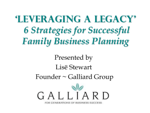 `Keeping it in the Family` 5 Strategies for Successful Family Business