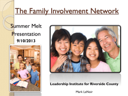 Summer Melt - Riverside County Office of Education