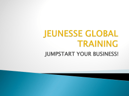 JUMPSTART YOUR BUSINESS!