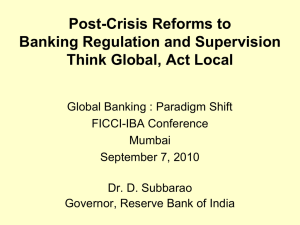 Inaugural Address by Dr. D Subbarao, Governor, Reserve Bank of