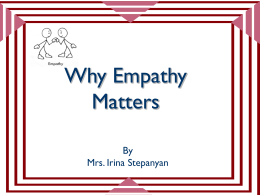 Why Empathy Matters