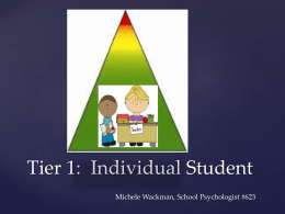 Day 5 - Tier 1, Individual Student