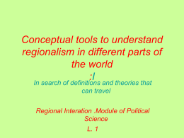 Dimensions of Regionalism (Hurrel 1999)