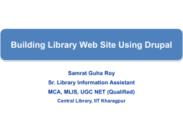 Drupal - Central Library, IIT Kharagpur