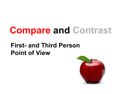 EDI Compare and Contrast first-and third-person
