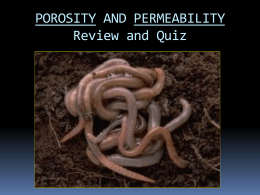 Porosity & Permeability Review Quiz