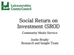 Social Return on Inv..