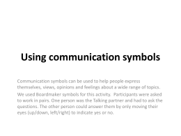 ppt for using communication symbols - IFM-SEI