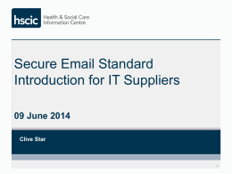 Introduction for IT Suppliers