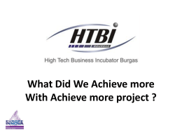 What Did We Achieve More? - High technology business innovations