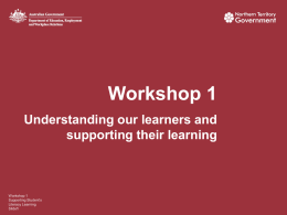 Workshop1 - PowerPoint - Department of Education
