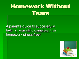 Homework Without Tears Power Point