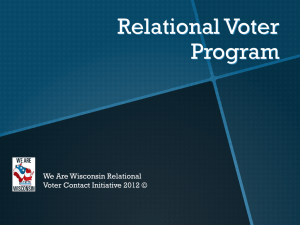 Relational Voter Program (RVP)