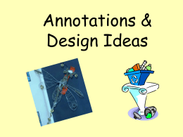Annotations & Design Ideas