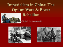 Imperialism in China (Opium War)