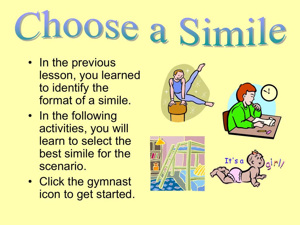 choose a simile