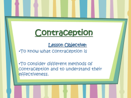 Contraception - School