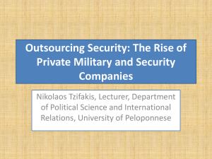 Outsourcing Security Services to Private Military and Security