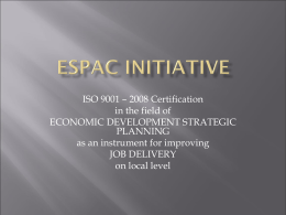 Link between Strategic Public Management and ESPAC Initiative