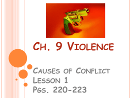 results of conflict