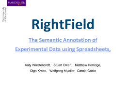 RightField Rich Annotation of Experimental