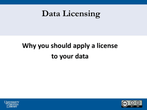 Why License Data? - University of Virginia Library Research Data