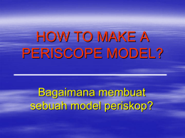 HOW TO MAKE A PERISCOPE MODEL?