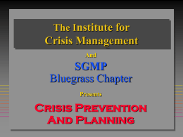 The Institute for Crisis Management