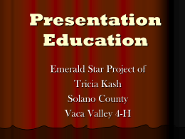 Presentation Education - Solano County UC Cooperative Extension
