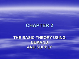 the basic theory using demand and supply chapter 2