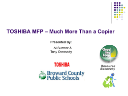 Toshiba Copier Webinar Training