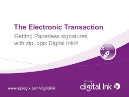 Why Digital Signatures? - California Association of Realtors