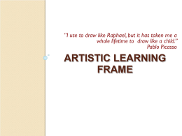 Artistic Learning and Personal meaning making frames