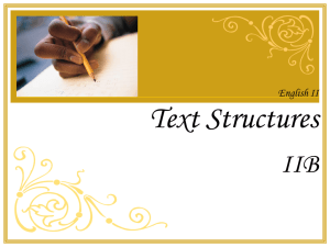 Examples of Author`s Purpose Text Structure