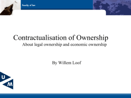 The contractualization of ownership. A comparative study