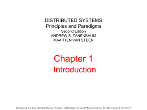 Summary of Distributed Systems