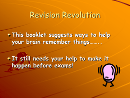Revision Revolution students
