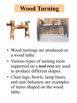 Wood Turning - Marlington Local Schools