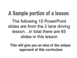 2 lane sample slides OPEN THIS FIRST