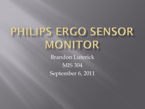 Philips Ergo Sensor Monitor