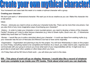 Creating your character